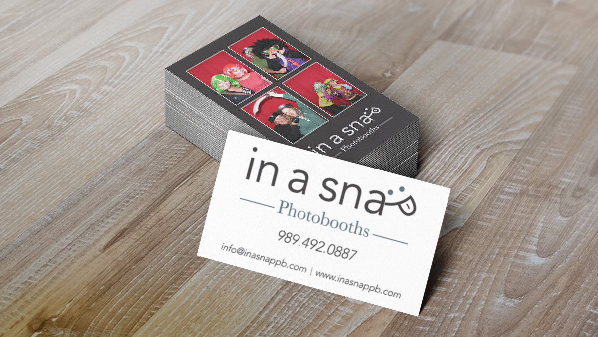 InaSnap Photobooths Business Card